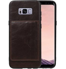 Staand Back Cover 2 Pasjes voor Galaxy S8 Plus Mocca