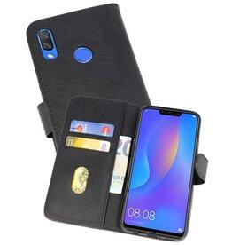 Huawei P Smart Plus Hoesje Kaarthouder Book Case Telefoonhoesje Zwart