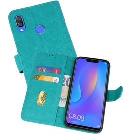 Bookstyle Wallet Cases Hoes voor Huawei P Smart Plus Groen