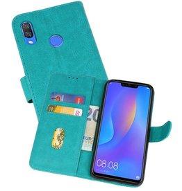 Huawei P Smart Plus Hoesje Kaarthouder Book Case Telefoonhoesje Groen