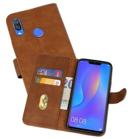 Bookstyle Wallet Cases Hoes voor Huawei P Smart Plus Bruin