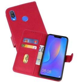 Huawei P Smart Plus Hoesje Kaarthouder Book Case Telefoonhoesje Roze
