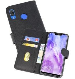 Huawei Nova 3 Hoesje Kaarthouder Book Case Telefoonhoesje Zwart
