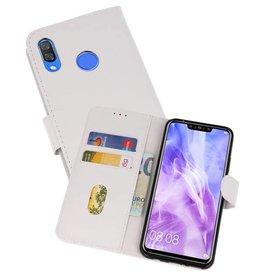 Huawei Nova 3 Hoesje Kaarthouder Book Case Telefoonhoesje Wit
