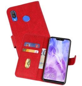 Huawei Nova 3 Hoesje Kaarthouder Book Case Telefoonhoesje Rood