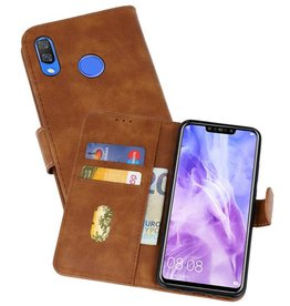 Bookstyle Wallet Cases Hoes voor Huawei Nova 3 Bruin