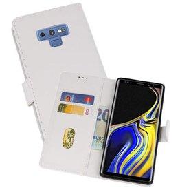 Samsung Galaxy Note 9 Hoesje Kaarthouder Book Case Telefoonhoesje Wit