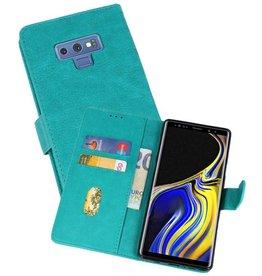 Samsung Galaxy Note 9 Hoesje Kaarthouder Book Case Telefoonhoesje Groen