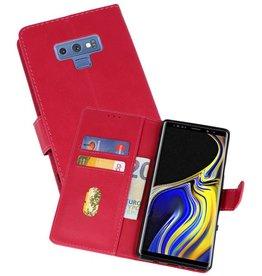 Samsung Galaxy Note 9 Hoesje Kaarthouder Book Case Telefoonhoesje  Roze