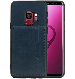 Staand Back Cover 1 Pasjes Galaxy S9 Navy
