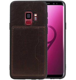 Staand Back Cover 1 Pasjes Galaxy S9 Mocca