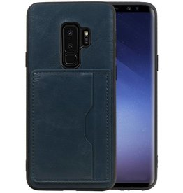 Staand Back Cover 1 Pasjes Galaxy S9 Plus Navy