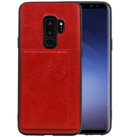 Staand Back Cover 1 Pasjes Galaxy S9 Plus Rood
