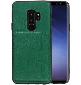 Staand Back Cover 1 Pasjes Galaxy S9 Plus Groen