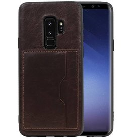 Staand Back Cover 1 Pasjes Galaxy S9 Plus Mocca
