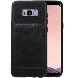 Staand Back Cover 1 Pasjes Galaxy S8 Plus Zwart