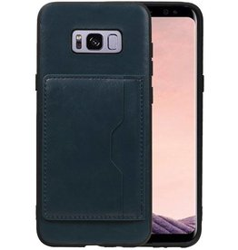 Staand Back Cover 1 Pasjes Galaxy S8 Plus Navy