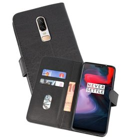 Bookstyle Wallet Cases Hoesje voor One Plus 6 Zwart