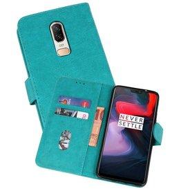 Bookstyle Wallet Cases Hoesje OnePlus 6 Groen