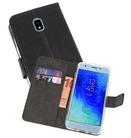 Wallet Cases Hoesje Samsung Galaxy J3 2018 Zwart