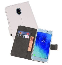 Wallet Cases Hoesje Galaxy J3 2018 Wit