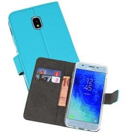Wallet Cases Hoesje Galaxy J3 2018 Blauw