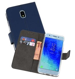 Wallet Cases Hoesje Samsung Galaxy J3 2018 Navy