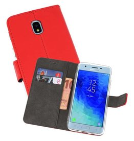 Wallet Cases Hoesje Galaxy J3 2018 Rood