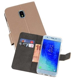 Wallet Cases Hoesje Galaxy J3 2018 Goud