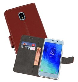 Wallet Cases Hoesje Samsung Galaxy J3 2018 Bruin