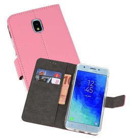 Wallet Cases Hoesje Galaxy J3 2018 Roze