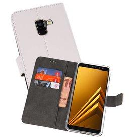 Wallet Cases Hoesje Galaxy A8 2018 Wit