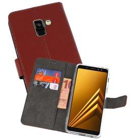 Wallet Cases Hoesje Samsung Galaxy A8 2018 Bruin