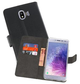 Wallet Cases Hoesje Galaxy J4 2018 Zwart