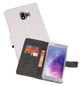 Wallet Cases Hoesje Galaxy J4 2018 Wit