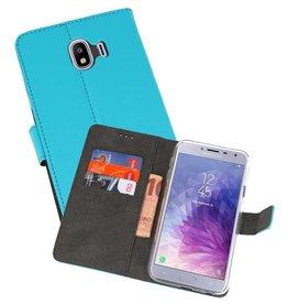 Wallet Cases Hoesje Galaxy J4 2018 Blauw