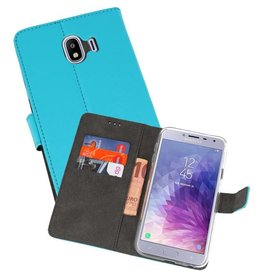 Wallet Cases Hoesje Samsung Galaxy J4 2018 Blauw
