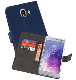 Wallet Cases Hoesje Galaxy J4 2018 Navy