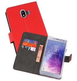 Wallet Cases Hoesje Galaxy J4 2018 Rood