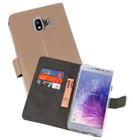 Wallet Cases Hoesje Galaxy J4 2018 Goud