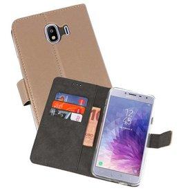Wallet Cases Hoesje Samsung Galaxy J4 2018 Goud