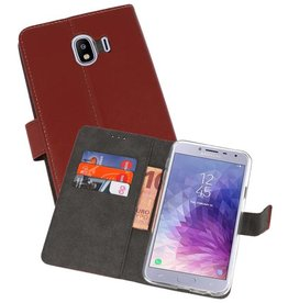 Wallet Cases Hoesje Galaxy J4 2018 Bruin