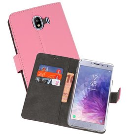 Wallet Cases Hoesje or Galaxy J4 2018 Roze