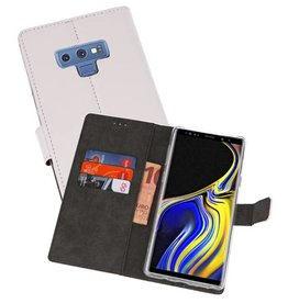 Wallet Cases Hoesje Galaxy Note 9 Wit