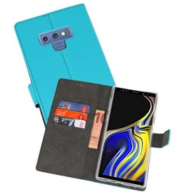 Wallet Cases Hoesje Galaxy Note 9 Blauw