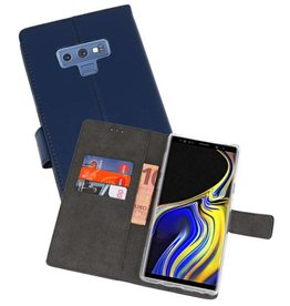 Wallet Cases Hoesje Galaxy Note 9 Navy