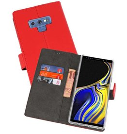 Wallet Cases Hoesje Galaxy Note 9 Rood