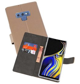 Wallet Cases Hoesje Galaxy Note 9 Goud