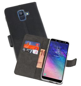 Wallet Cases Hoesje Galaxy A6 (2018) Zwart