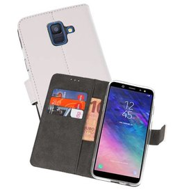 Wallet Cases Hoesje Galaxy A6 (2018) Wit